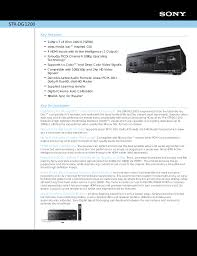 download free pdf for sony str dg1200 receiver manual