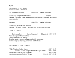 Sample Resume Philippines by Canadian Sample Resume 10 Sample Resume Uxhandy Com