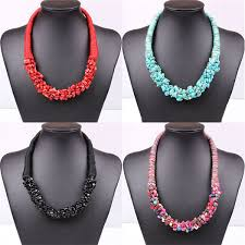 natural stone statement necklace images 2018 bohemian natural stone statement necklaces handmade fabric jpg