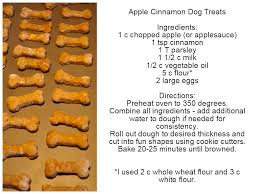 recipe for dog treats apple cinnamon dog treats
