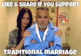 Charles Manson Meme - charles manson engagement photo funny