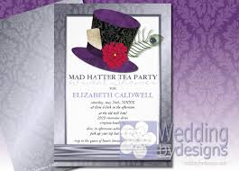 tea party bridal shower invitations mad hatter tea party bridal shower ideas