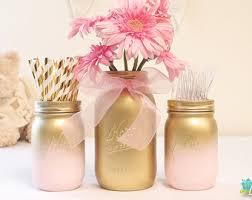 baby shower centerpiece painted mason jars decor par