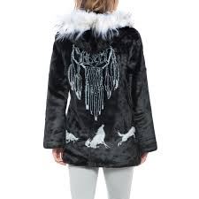 black mountain faux fur hooded jacket for women save 47
