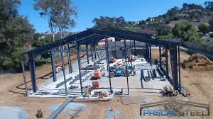 time lapse of steel building being erected for church in bonita