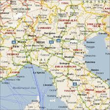 map of perugia milan map