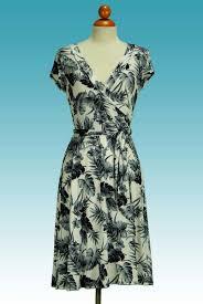 janette fashion palm tree cap sleeve wrap dress apparel