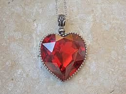 long red heart necklace images Anniversary wife girlfriend jewelry gift red heart shaped jpg
