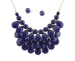fashion jewelry statement necklace images Amazoncom bib bubble statement necklace earrings jewelry set jpg