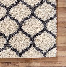 Large Modern Area Rugs Large Modern Ivory Trellis Shaggy Carpet Contemporary Soft Area