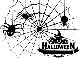 clipart halloween spiderweb stencil
