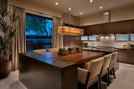kitchen island and dining table ownby design contemporary kitchen by ownby design