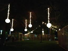 vertical hanging string lights