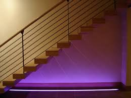 Stair Lighting Colored Stair Lighting Contemporary Staircase Denver By