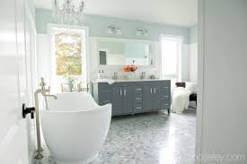 Marble Master Bathroom by Master Bathroom Reno Reveal Ask Anna