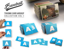 baseball trading card mock up collection v1 by design cloud