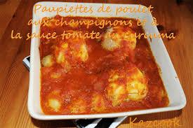 le curcuma en cuisine paupiettes de poulet aux chignons et sauce tomate au curcuma de