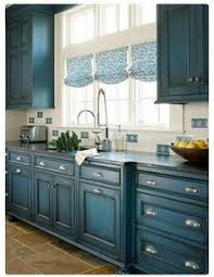Kitchen Cabinets Repainted by Kitchen Cabinet Details That Wow Blue Cabinets House And Kitchens