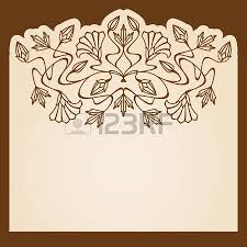 vector nouveau ornament with space for text royalty free