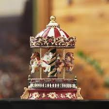romantic carousel music box vintage rotating music box christmas