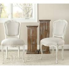 Overstock Com Chairs Safavieh Marseille Grey Linen Nailhead Dining Chairs Set Of 2