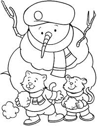 winter hat coloring pages a couple of young little cat wearing a boy scout hat on winter