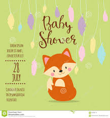 Baby Welcome Invitation Cards Templates Baby Shower Invitation Vector Card Stock Vector Image 85064774