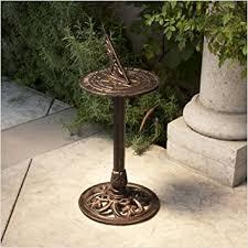 Indoor Garden Decor - garden sundial indoor outdoor decor pedestal wall mount