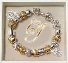 silver bracelet with gold charm images Pandora bracelet platinum gold pandora 39 s box pinterest jpg