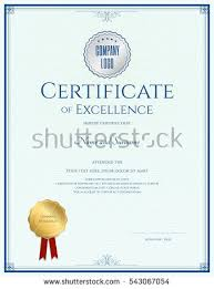 certificate of excellence stock images royalty free images