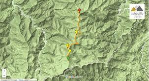 Blue Ridge Mountains Map Shining Rock Mountain On The Art Loeb Trail Asheville Trails