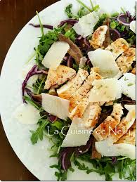 la cuisine de nelly salade poulet roquette chou et parmesan par la cuisine de
