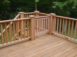 desks backyard deck wooden upstairs with door classic outside