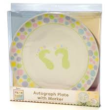 baby shower autograph plate darice gender neutral baby shower signature plate