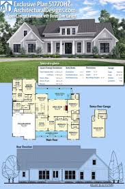 how large is 130 square feet plan 51770hz open concept farmhouse with bonus over garage