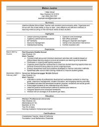 Sample Resume For Bilingual Teacher by 7 Teaching Sample Resume G Unitrecors