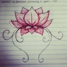 Simple Lotus Flower Drawing - flowers flower drawing art doodle by grounded1 doodles