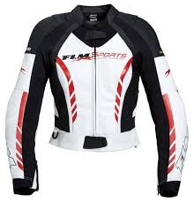 ladies leather motorcycle jacket flm sports lady leather combination jacket 3 0 buy cheap fc moto