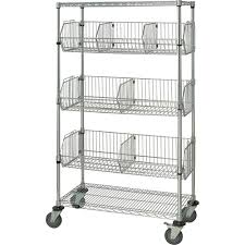 wire basket shelves delta bright stainless steel finish small