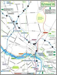 Map Of Richmond Virginia by Railfan Guide To Richmond Va