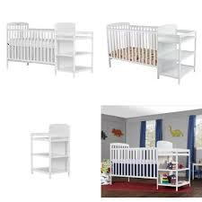dream on me changing table white dream on me 4 in 1 full size crib and changing table combo white