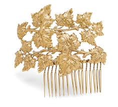 hair comb forest fairy gold hair comb thinkgeek