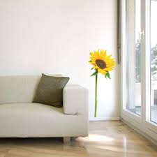 wall stickers florals shop wall art com sunflower single wall sticker