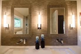 Contemporary Wall Sconces Mid Century Modern Bathroom Wall Sconces Ideas With Two Framed 14