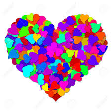 big valentines day colorful hearts forming big valentines day heart shape design