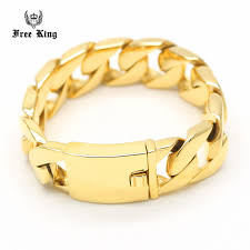 gold bracelet styles images Cool jay z style men 39 s 316l stainless steel gold heavy cuban curb jpg