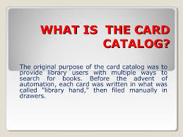 card catalog elementary