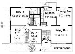 split level home floor plans country ranch traditional level one of plan 34679 house plans