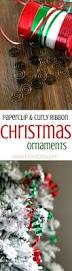 paper clip and ribbon diy homemade ornaments homemade christmas
