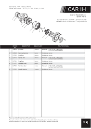 4wd carraro axle suitable for ih page 43 sparex parts lists